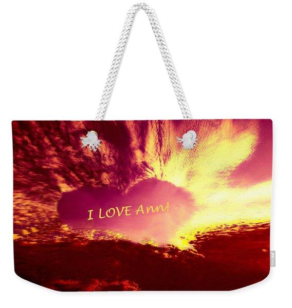 Heart Ann Weekender Tote Bag