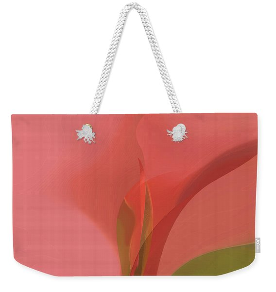 Weekender Tote Bag featuring the digital art Heart Of The Matter by Gina Harrison