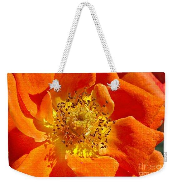 Heart Of The Orange Rose Weekender Tote Bag