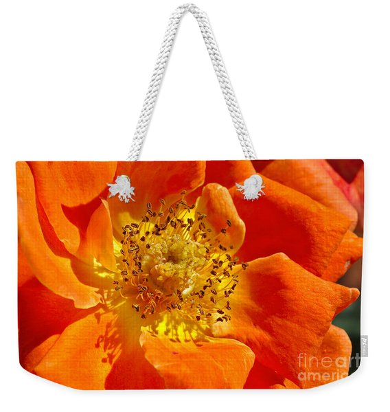 Heart Of The Orange Rose Weekender Tote Bag