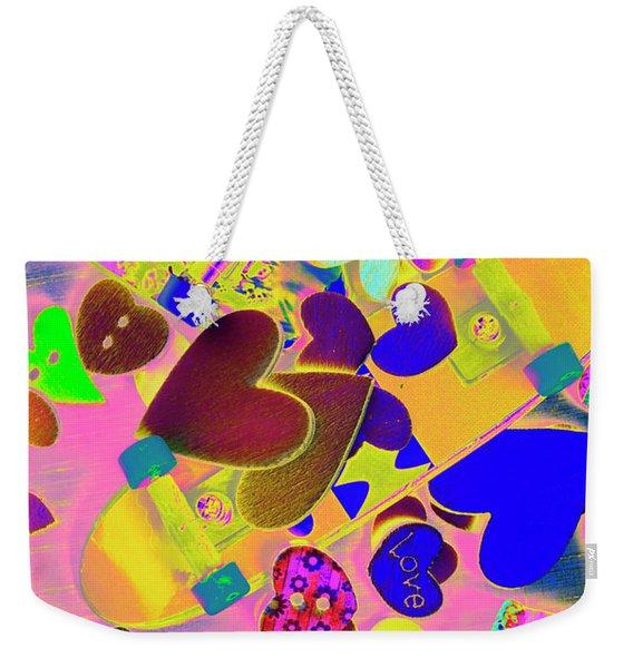 Heart Stack - Fallen For Sk8 Weekender Tote Bag