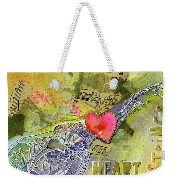 Heart Strings Weekender Tote Bag