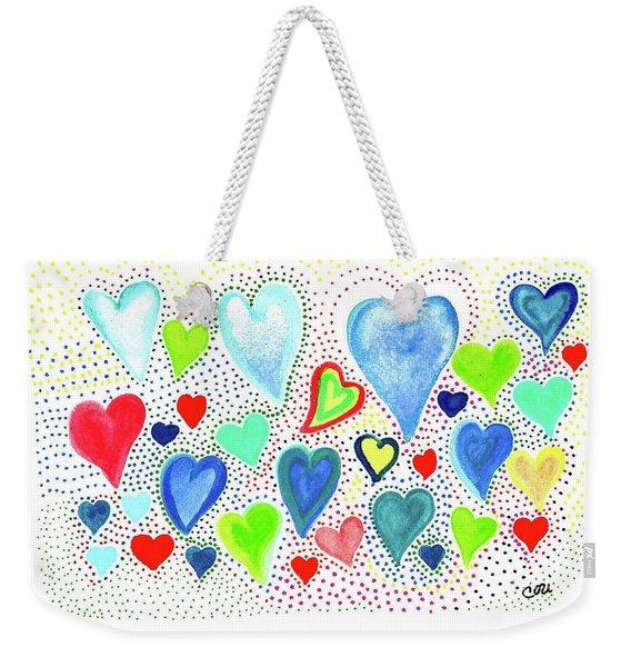 Hearts 1002 Weekender Tote Bag