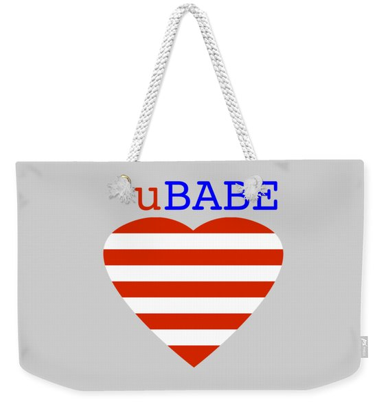 Hearts And Stripes Weekender Tote Bag