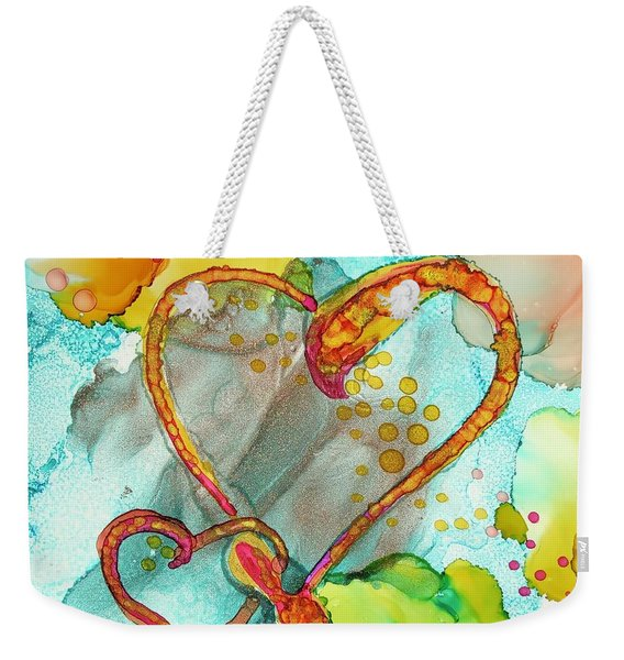 Hearts Entwined Weekender Tote Bag