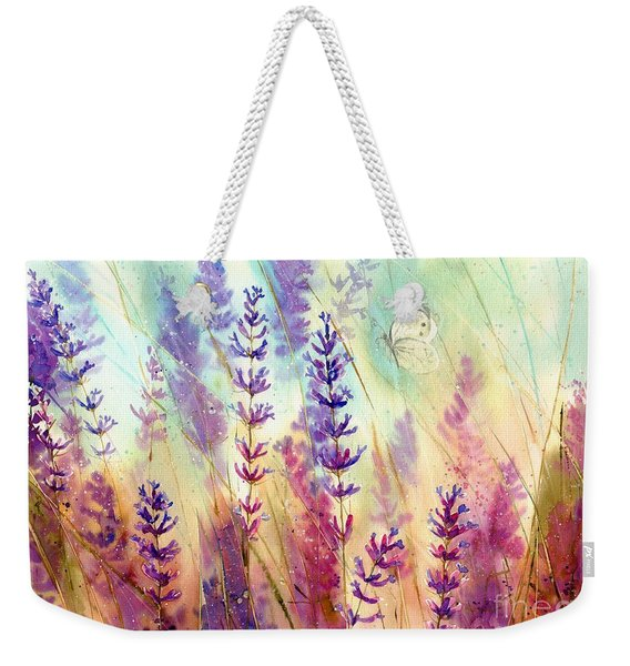 Heathers In Haze Weekender Tote Bag