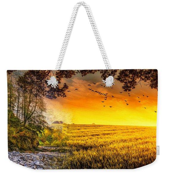 Heaven's Morning Glow Weekender Tote Bag