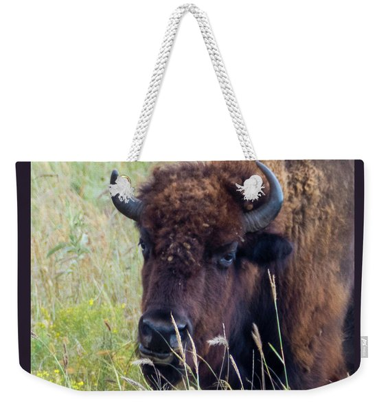 Weekender Tote Bag featuring the photograph Heavy Weight Champion by Sally Sperry
