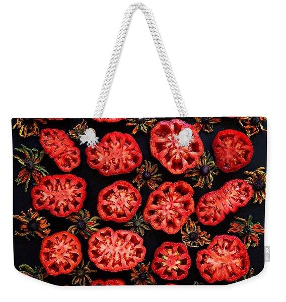 Heirloom Tomato Grid Weekender Tote Bag