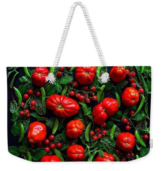 Heirloom Tomatoes And Peas Weekender Tote Bag