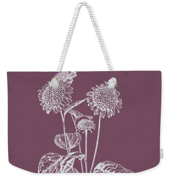 Helianthus Purple Flower Weekender Tote Bag