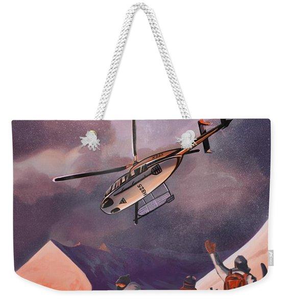 Heliski Weekender Tote Bag