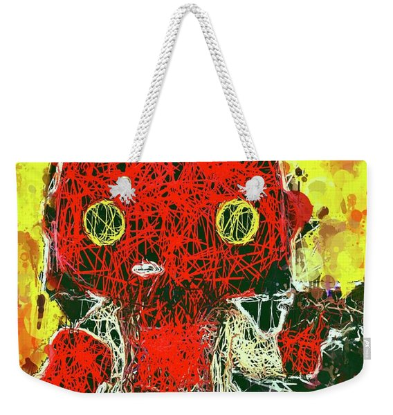 Weekender Tote Bag featuring the mixed media Hellboy by Al Matra