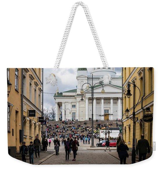Helsinki Streets Weekender Tote Bag