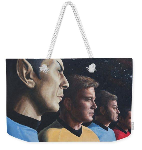 Heroes Of The Final Frontier Weekender Tote Bag