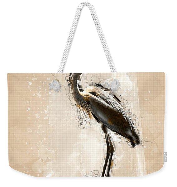Heron On Post Weekender Tote Bag