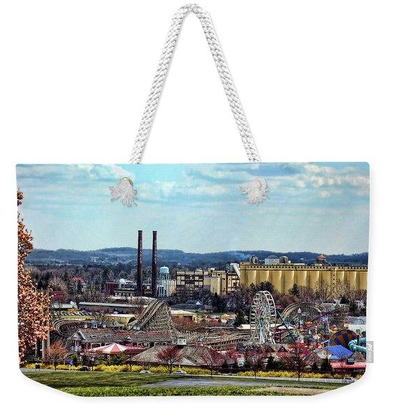 Weekender Tote Bag featuring the photograph Hershey Pa 2006 by Mark Jordan