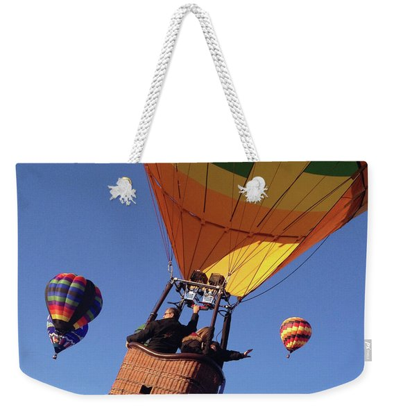 Hi From Up High Weekender Tote Bag
