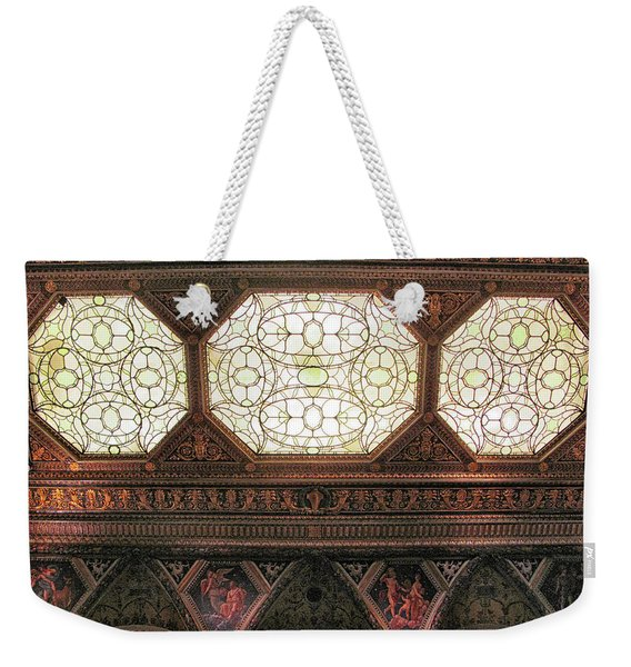 The Morgan East Room Ceiling Weekender Tote Bag
