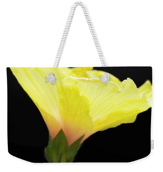 Hibiscus In Black Weekender Tote Bag