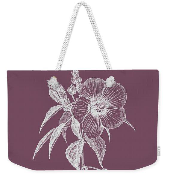 Hibiscus Roseus Purple Flower Weekender Tote Bag