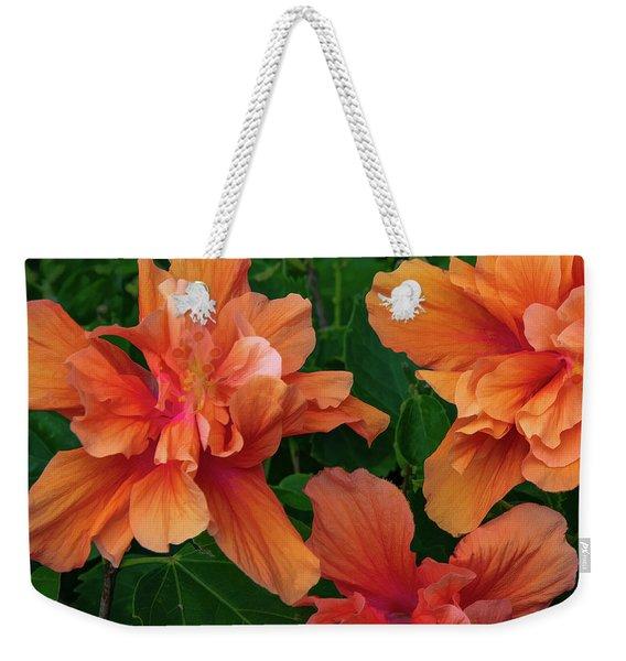 Hibiscus Tripcus Orangus Weekender Tote Bag