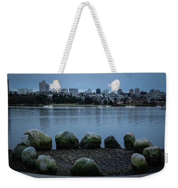 Weekender Tote Bag featuring the photograph High And Low Tide by Juan Contreras