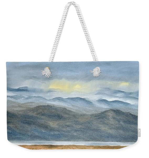 Weekender Tote Bag featuring the painting High Desert Morning by Kevin Daly