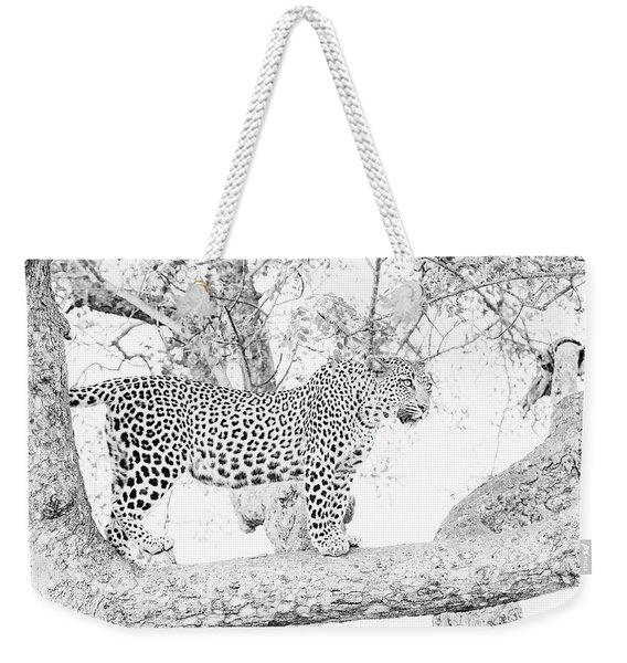 High Key Leopard Weekender Tote Bag