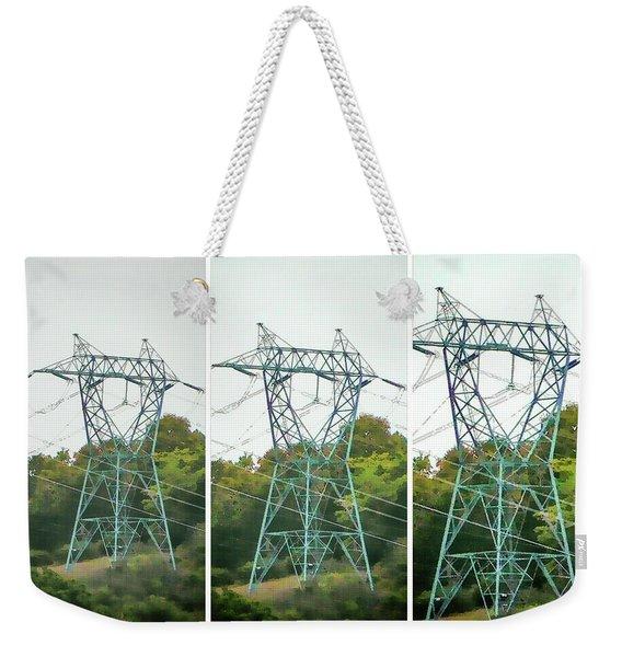 High-voltage Power Transmission Towers 1 Weekender Tote Bag
