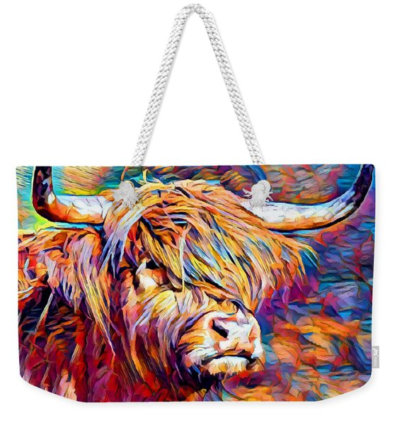Highland Cow 6 Weekender Tote Bag