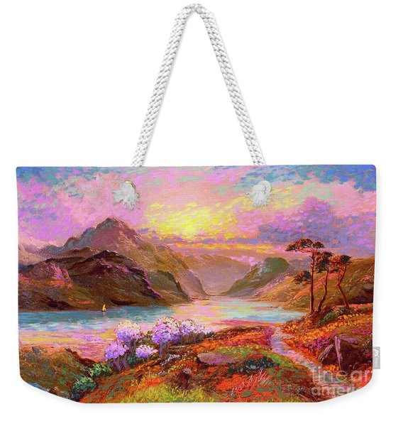 Highland Lake Weekender Tote Bag
