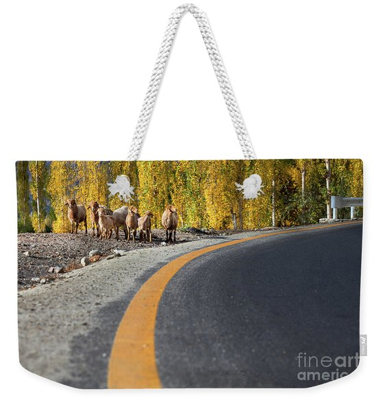 Highway Story Weekender Tote Bag