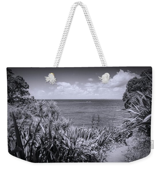 Hiking On Tiritiri Matangi New Zealand Bw Weekender Tote Bag