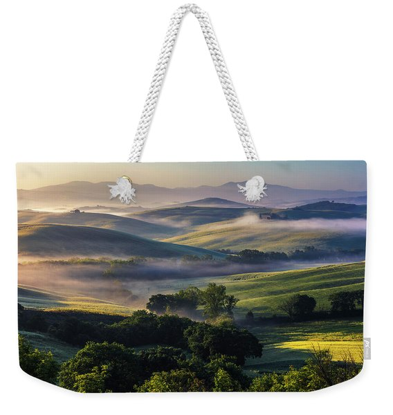 Hilly Tuscany Valley Weekender Tote Bag