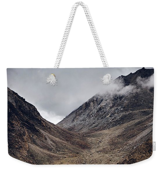 Weekender Tote Bag featuring the photograph Himalayan Outpost by Whitney Goodey