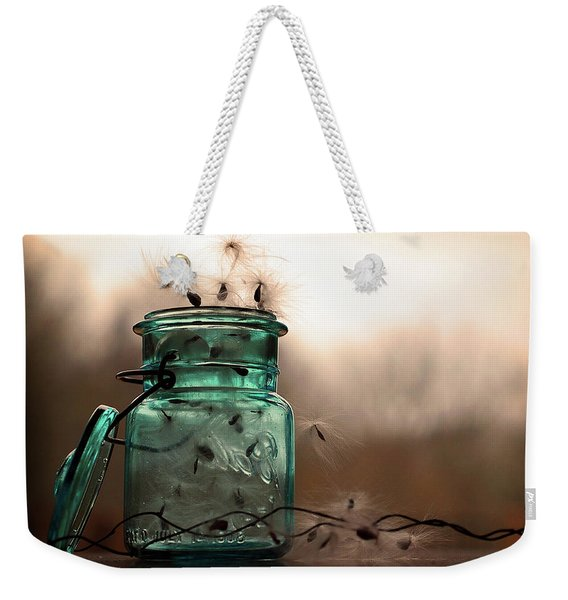 Weekender Tote Bag featuring the photograph His Cup Runneth Over by Michelle Wermuth