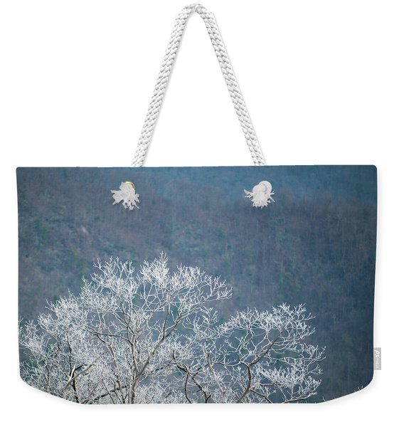 Hoarfrost Collects On Branches Weekender Tote Bag