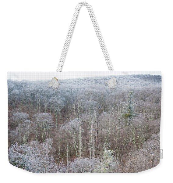 Hoarfrost In The Tree Tops Weekender Tote Bag