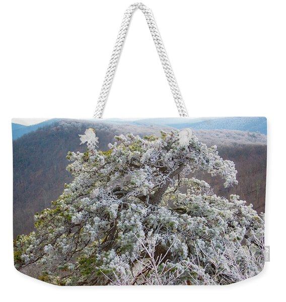 Hoarfrost On Trees Weekender Tote Bag