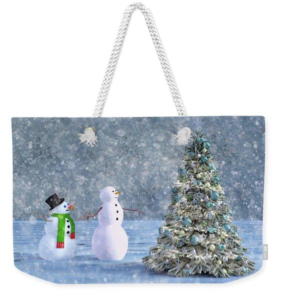 Holiday Christmas Tree Cheers Weekender Tote Bag
