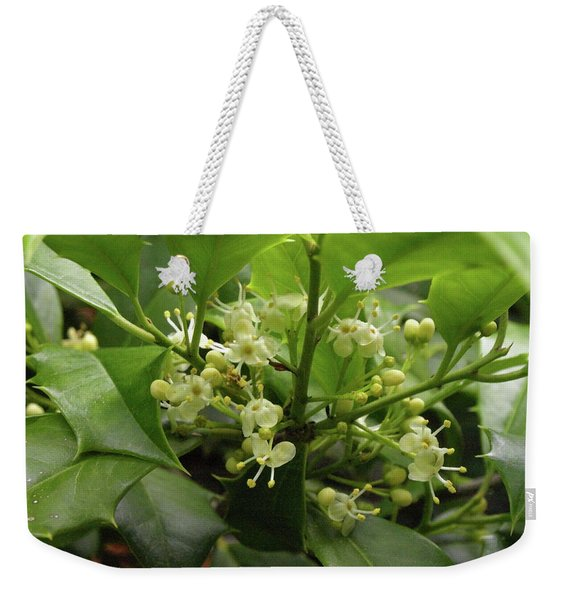 Holly Blossoms Weekender Tote Bag
