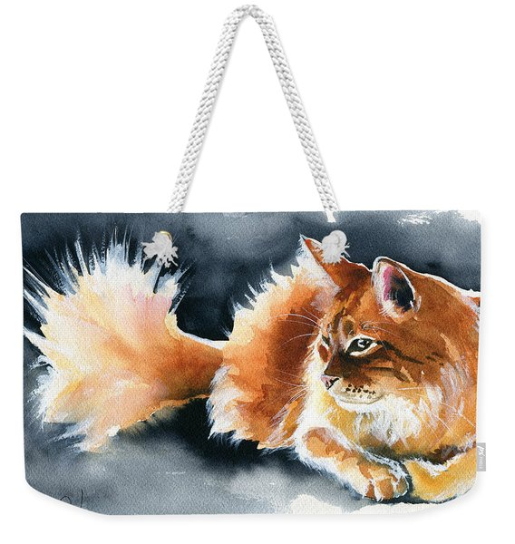 Holy Ginger Fluff - Cat Painting Weekender Tote Bag