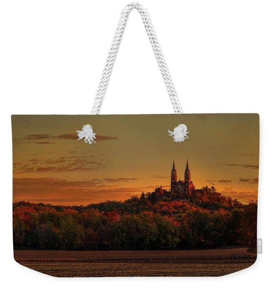 Holy Hill Sunrise Panorama Weekender Tote Bag