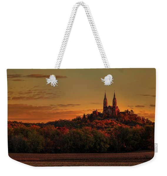 Holy Hill Sunrise Panorama Weekender Tote Bag