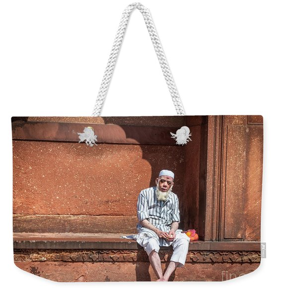 Weekender Tote Bag featuring the photograph Holy Man by Robin Zygelman