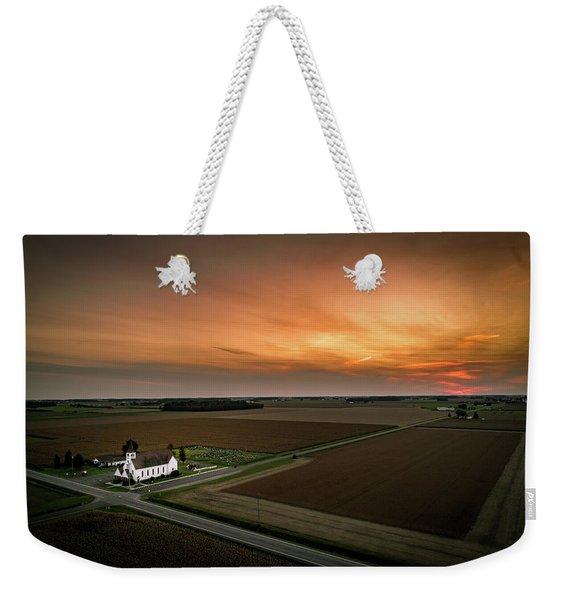 Holy Sunset Weekender Tote Bag