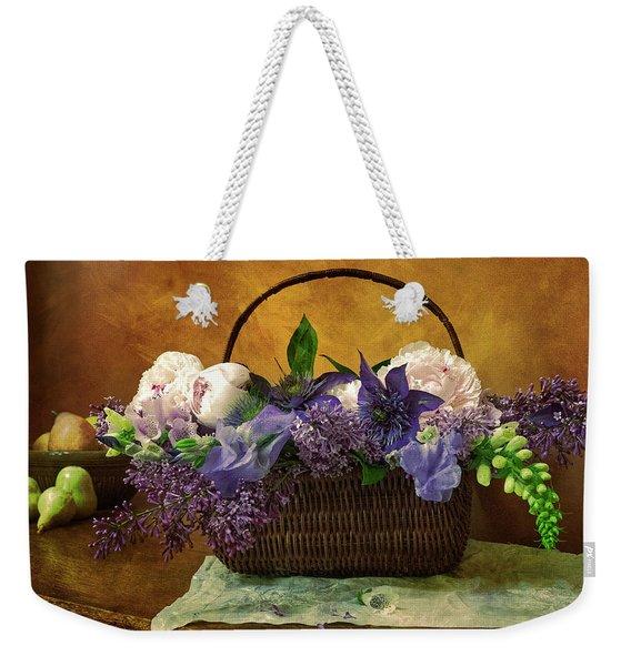 Home Grown Floral Bouquet Weekender Tote Bag