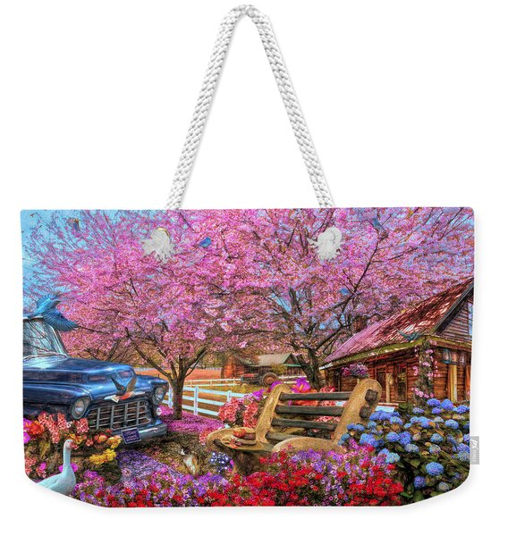 Home Is Where The Heart Is Country Painting Weekender Tote Bag