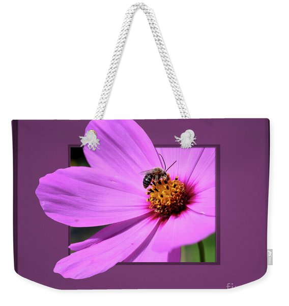 Honey Bee On Pink Weekender Tote Bag